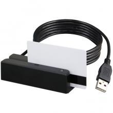 MSR213V-33, считыватель магнитных карт, 1&2&3 дорожки, USB Virtual COM, черный