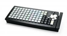 Программируемая клавиатура Posiflex KB-6600U-B черная c ридером магнитных карт на 1-3 дорожки