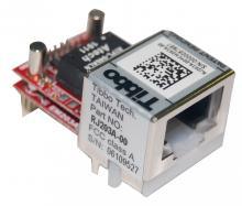 EM203+RJ203, Модуль конвертера RS232-TCP/IP (с миниатюрными кварцевыми генераторами)  с разъемом 100BaseT