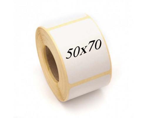 Термоэтикетки ЭКО, 50 x 70 (1 ряд, 500 шт, втулка 40)