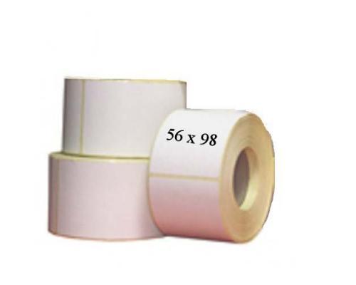 Полипропиленовые этикетки, 56 x 98 ( 1 ряд, 400 шт, втулка 40)