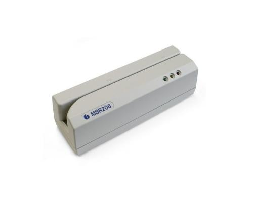 MSR206U Энкодер магнитных карт HiCo&LoCo на 3 дорожки, RS232+USB