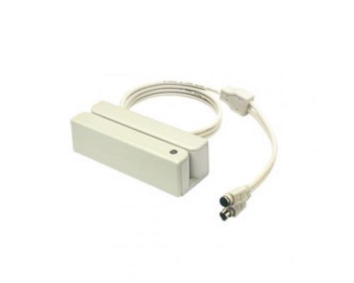 MSR210D-33KW считыватель магнитных карт 1,2,3 дорожки, разрыв клавиатуры, белый